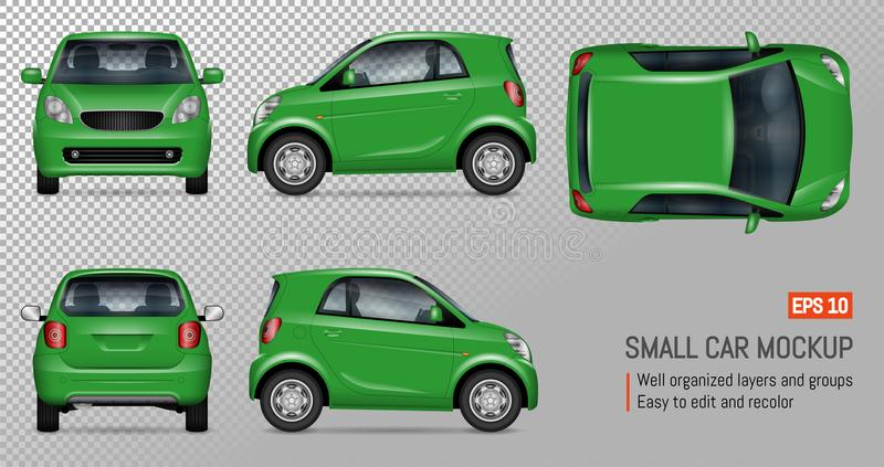 Realistisches Miniauto vektor abbildung