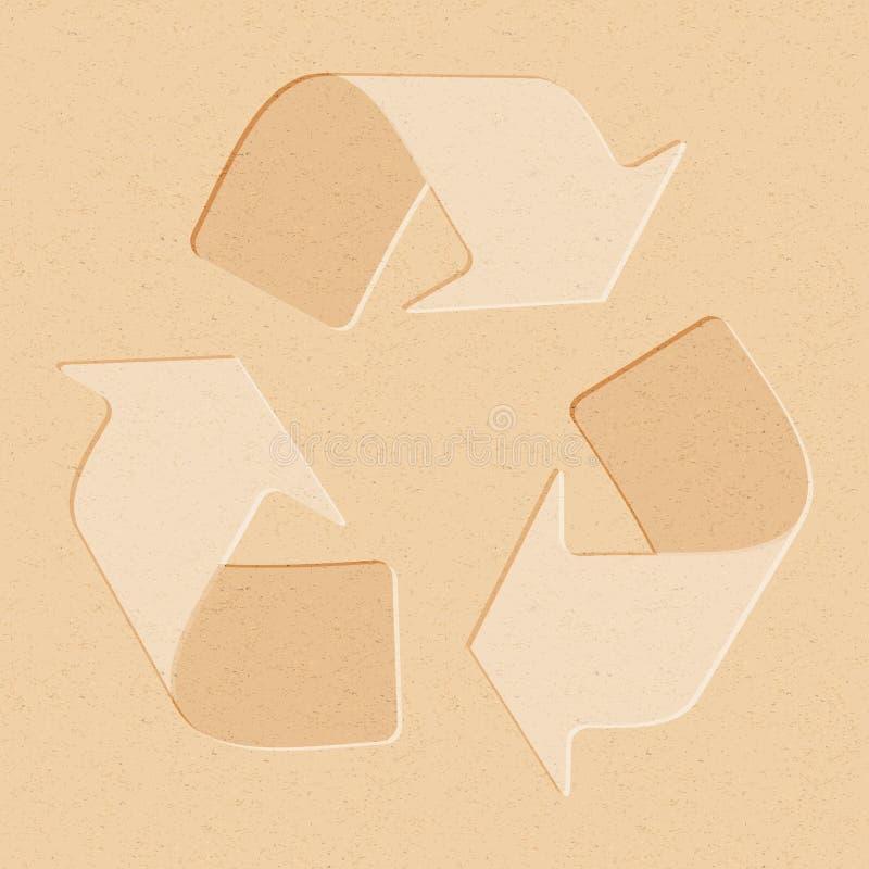 Realistisches Recyclingpapier mit der Wiederverwertung des Symbols vektor abbildung