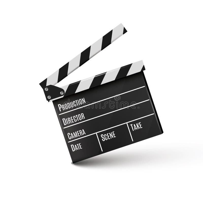Realistisches Scharnierventil Auf einem weißen Hintergrund film Zeit Auch im corel abgehobenen Betrag vektor abbildung