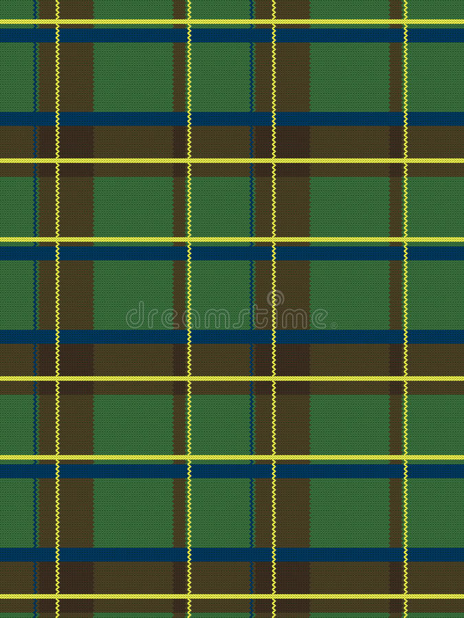 Realistisches schottisches Gewebemuster lizenzfreie abbildung