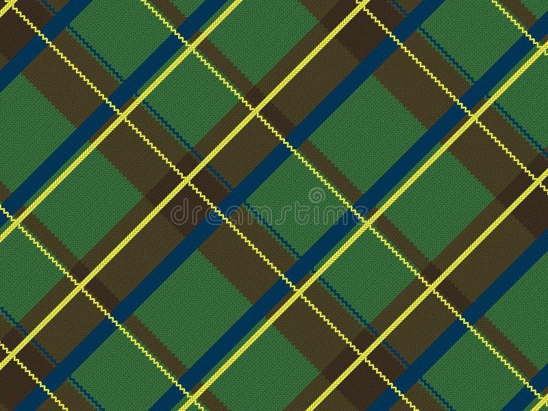 Realistisches schottisches Tuch vektor abbildung