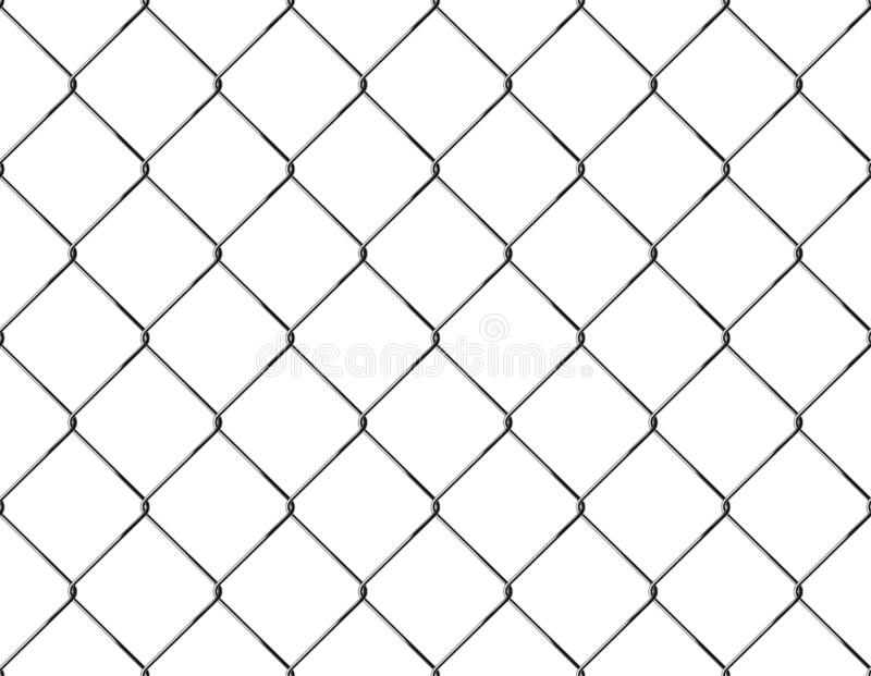 Realistisches Zaun-Rabitz-Muster Nahtlose Verbindung des schützenden Gitters Vektor rabitz Gitter Robustes, modernes Chrom Draht lizenzfreie abbildung