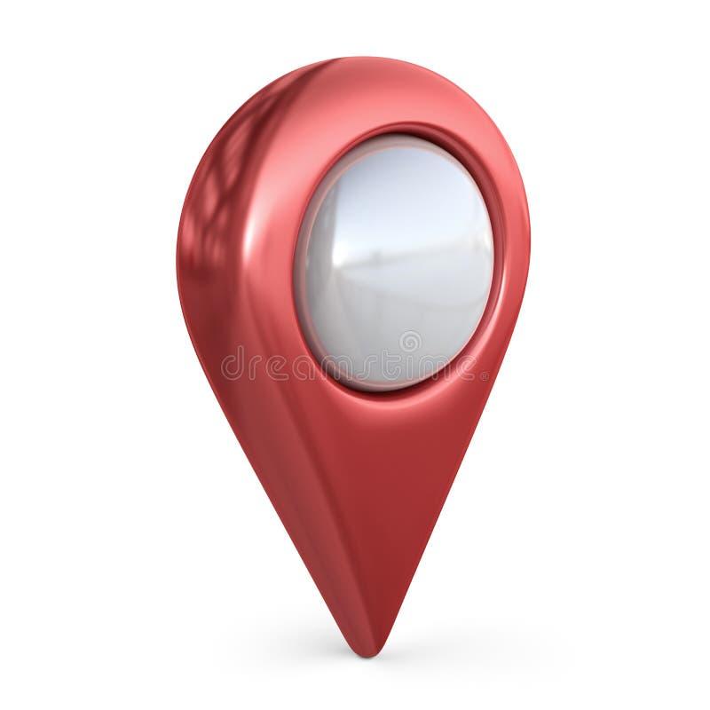 Realistisk översiktspekare GPS lägesymbol; isolerad symbol 3D vektor illustrationer