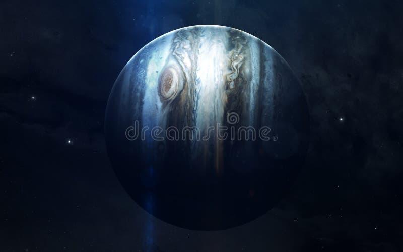 Realistisk bild av Jupiter, planet av solsystemet Bildande bild Beståndsdelar av denna avbildar möblerat av NASA royaltyfri fotografi