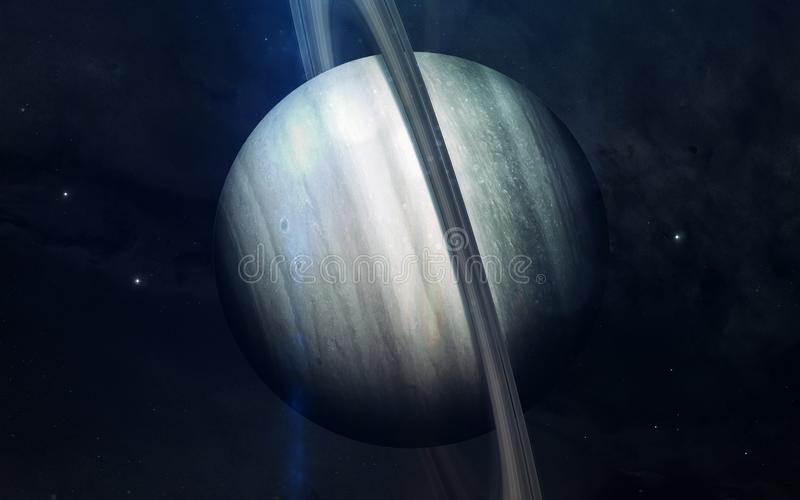 Realistisk bild av Saturn, planet av solsystemet Bildande bild Beståndsdelar av denna avbildar möblerat av NASA arkivbilder