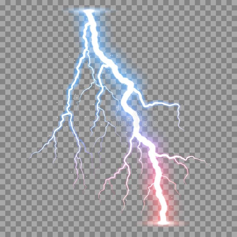 Realistisk blixtåskvigg för vektor vektor illustrationer