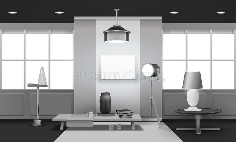 Realistisk design för vindinre 3D royaltyfri illustrationer