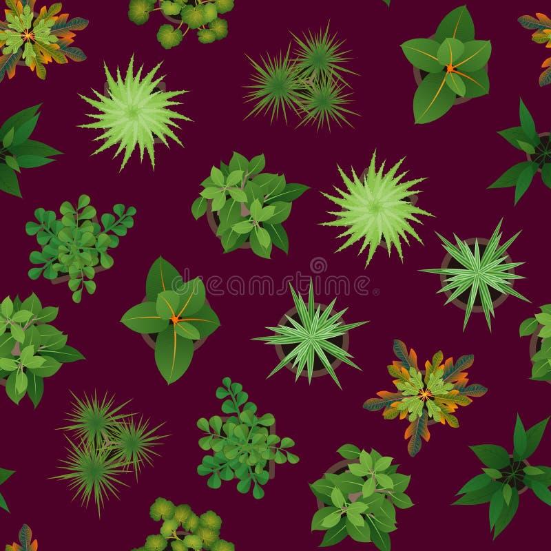 Realistisk detaljerad gräsplan för den bästa sikten 3d planterar sömlös modellbakgrund vektor stock illustrationer