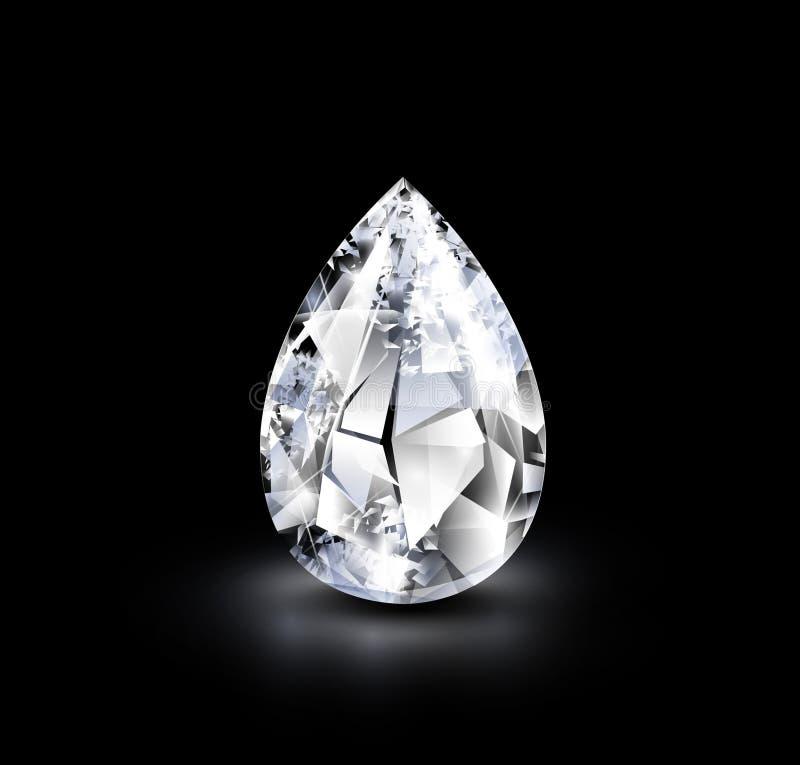 Realistisk diamant stock illustrationer