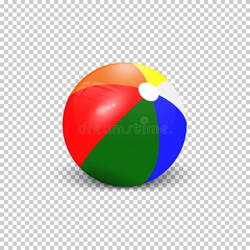 Realistisk färgrik strandboll vektor illustrationer