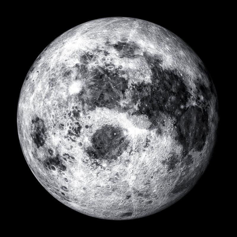 Realistisk fullmåne stock illustrationer