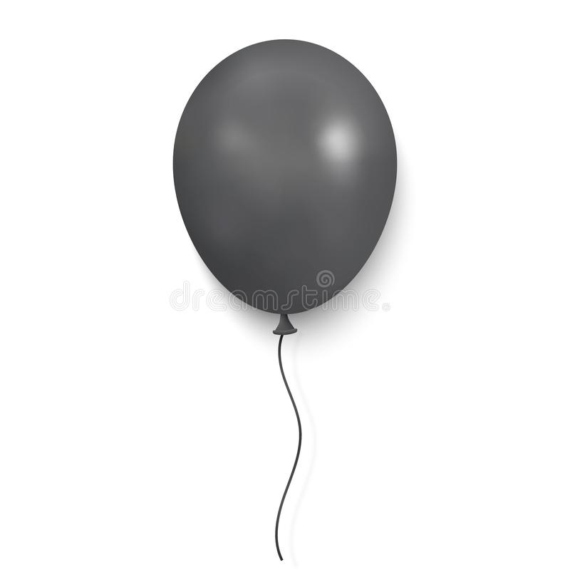 Realistisk glansig ballong royaltyfri illustrationer