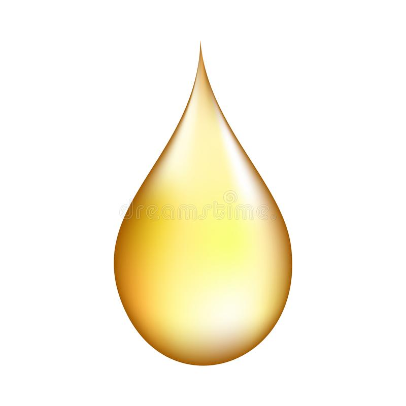 Realistisk guld- droppe vektor illustrationer