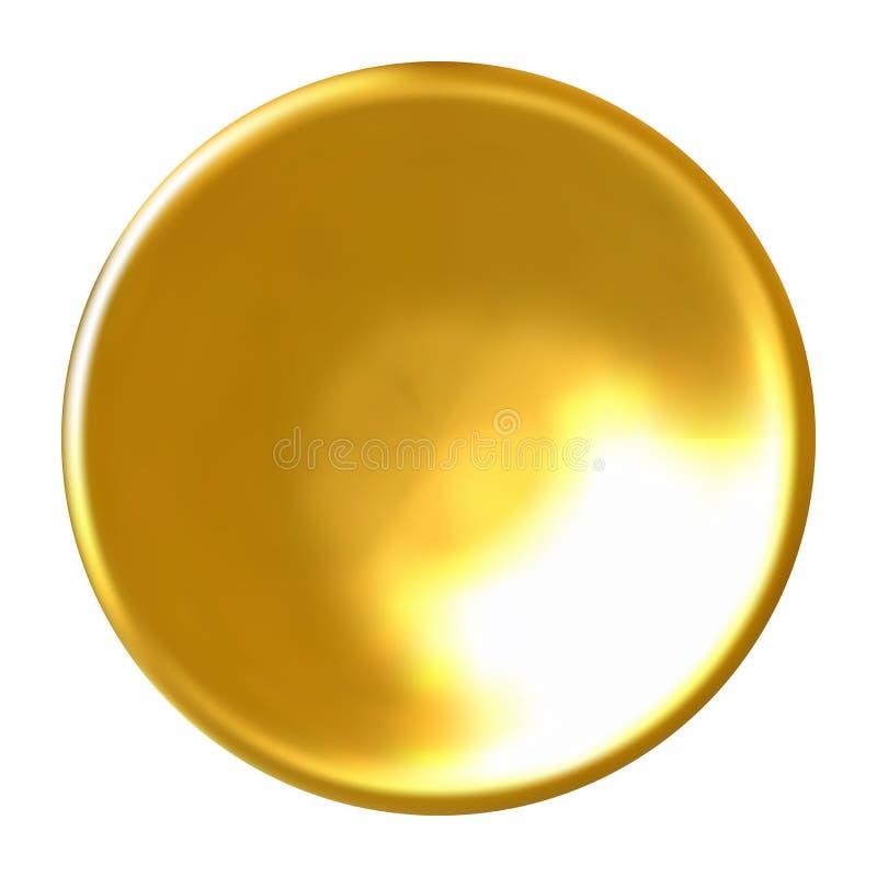Realistisk guld- knapp vektor illustrationer