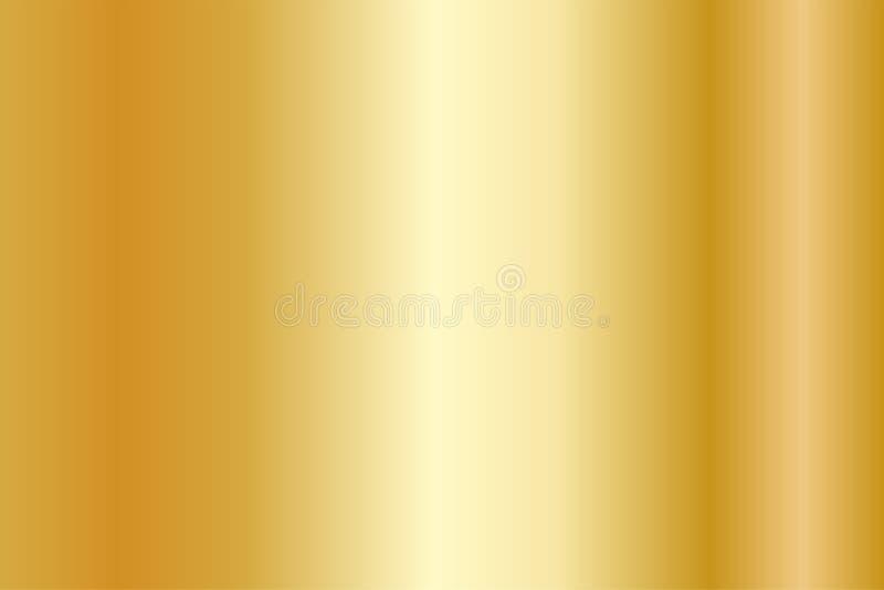 Realistisk guld- textur Skinande lutning för metallfolie royaltyfri illustrationer