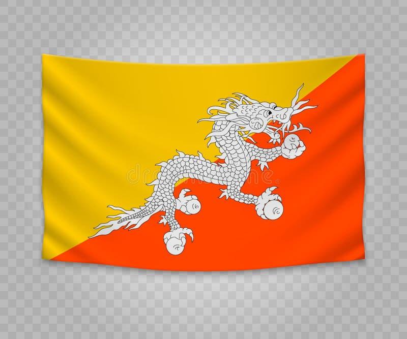 Realistisk hängande flagga vektor illustrationer