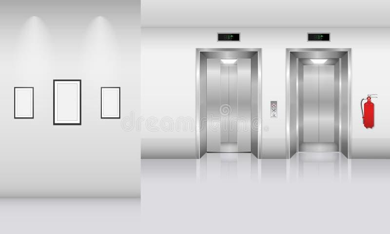 Realistisk hiss i regeringsställning som bygger, inre begrepp, vektor, vektor illustrationer
