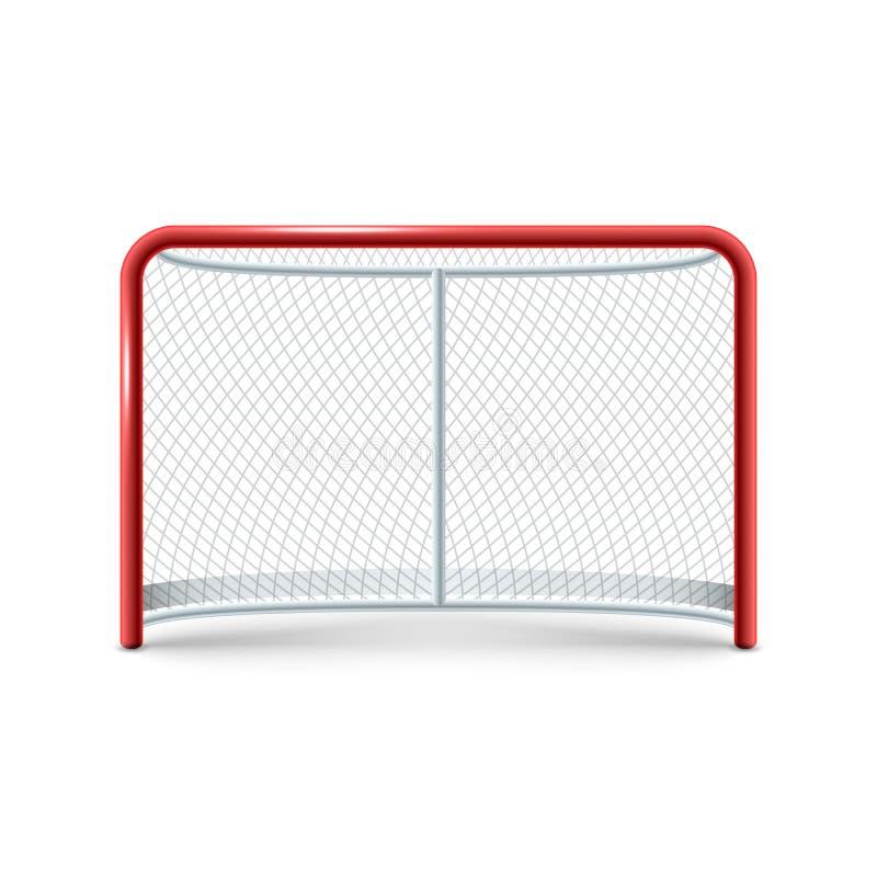 Realistisk hockey utfärda utegångsförbud för symbolen på den vita bakgrunden royaltyfri illustrationer