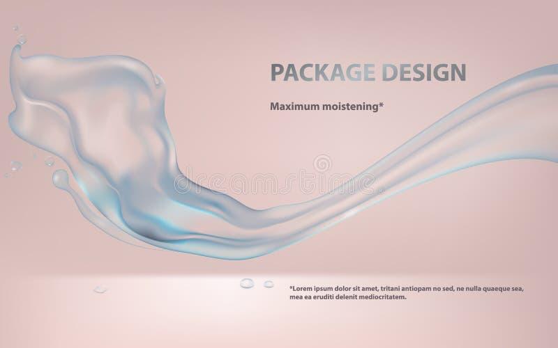Realistisk illustration för vektor av vattenfärgstänk stock illustrationer
