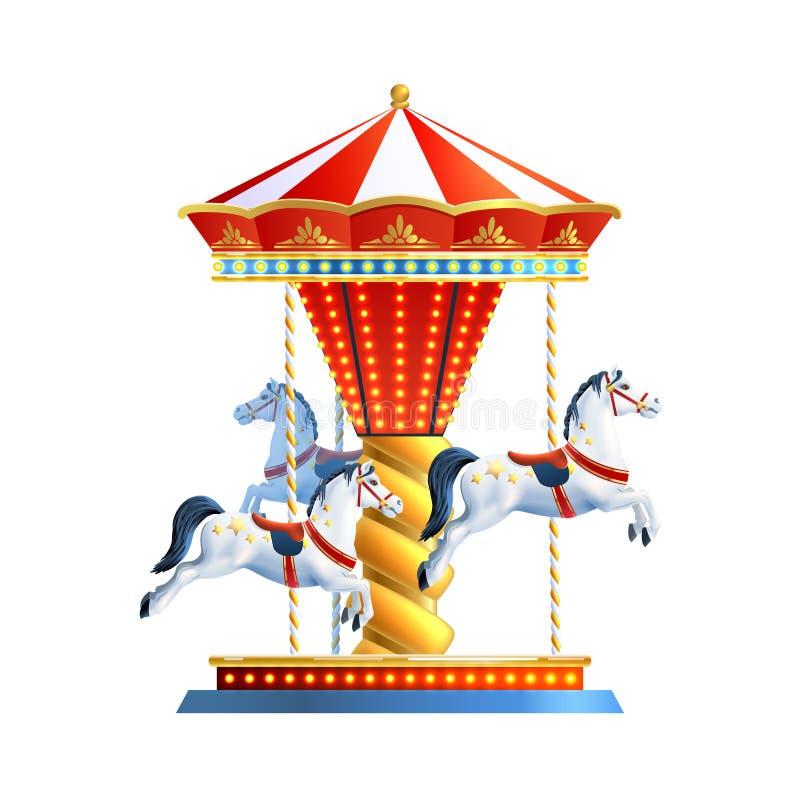Realistisk karusell vektor illustrationer