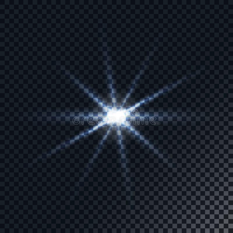 Realistisk Lens signalljus Ljus effekt vektor illustrationer
