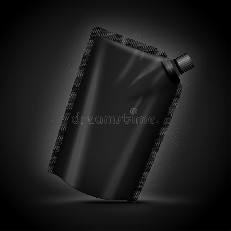 Realistisk lyxig mörk doy packe för vektor 3d royaltyfri illustrationer