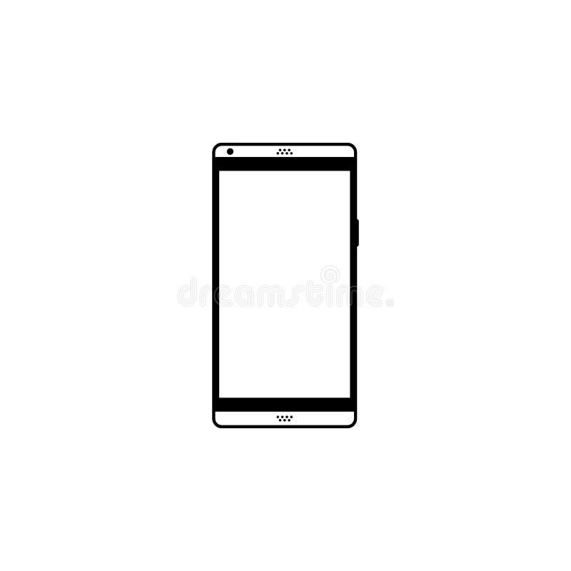 Realistisk modern smartphone som isoleras på vit bakgrund Falsk ?vre telefon med den tomma sk?rmen royaltyfri illustrationer