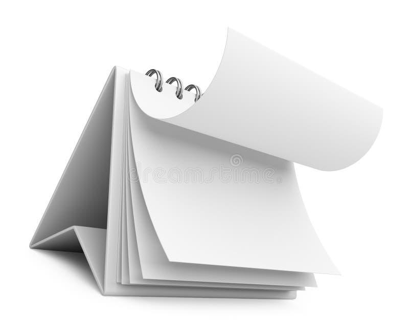 Realistisk pappers- kalender symbol 3d vektor illustrationer