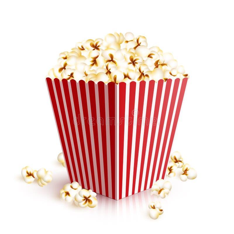 Realistisk popcornhink stock illustrationer