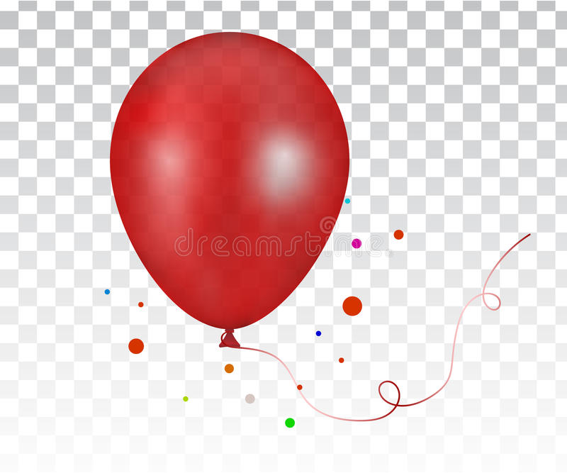 realistisk röd färgrik ballong 3d vektor illustrationer