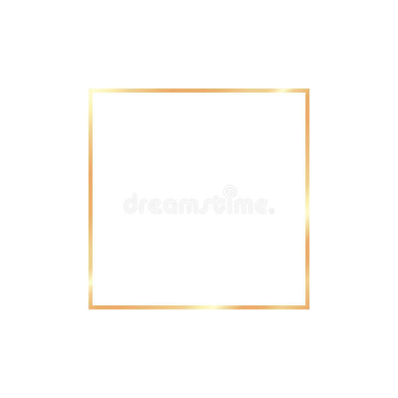 Realistisk ram för guld- tappning på genomskinlig bakgrund stock illustrationer