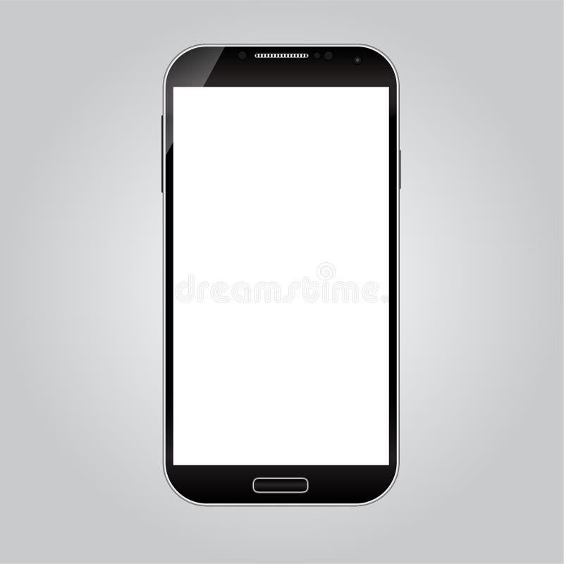 Realistisk smart telefonvektor vektor illustrationer