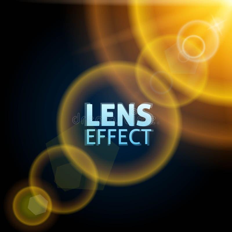 Realistisk ställa in teleskop ljus stråle Effekten av solsignalljuset Ljus belysning också vektor för coreldrawillustration vektor illustrationer