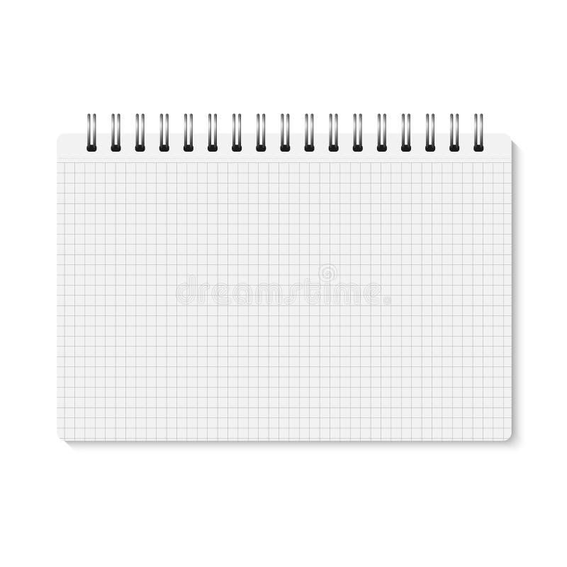 Realistisk stängd spiral för vektor - destinerad anteckningsbok royaltyfri illustrationer