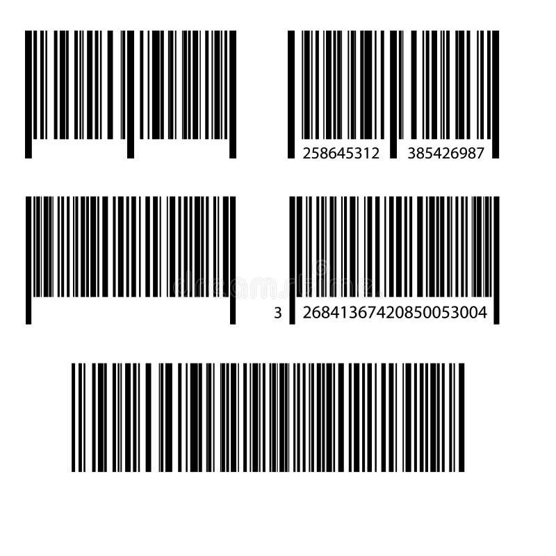Realistisk symbol för stångkod vektor illustrationer