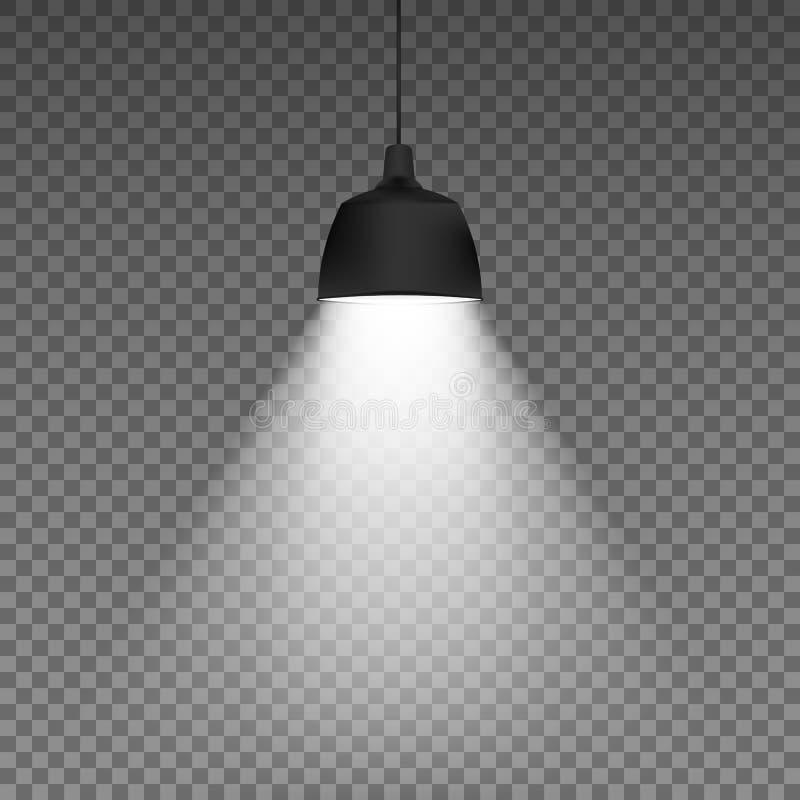 Realistisk taklampa Isolerat på genomskinlig bakgrund också vektor för coreldrawillustration stock illustrationer