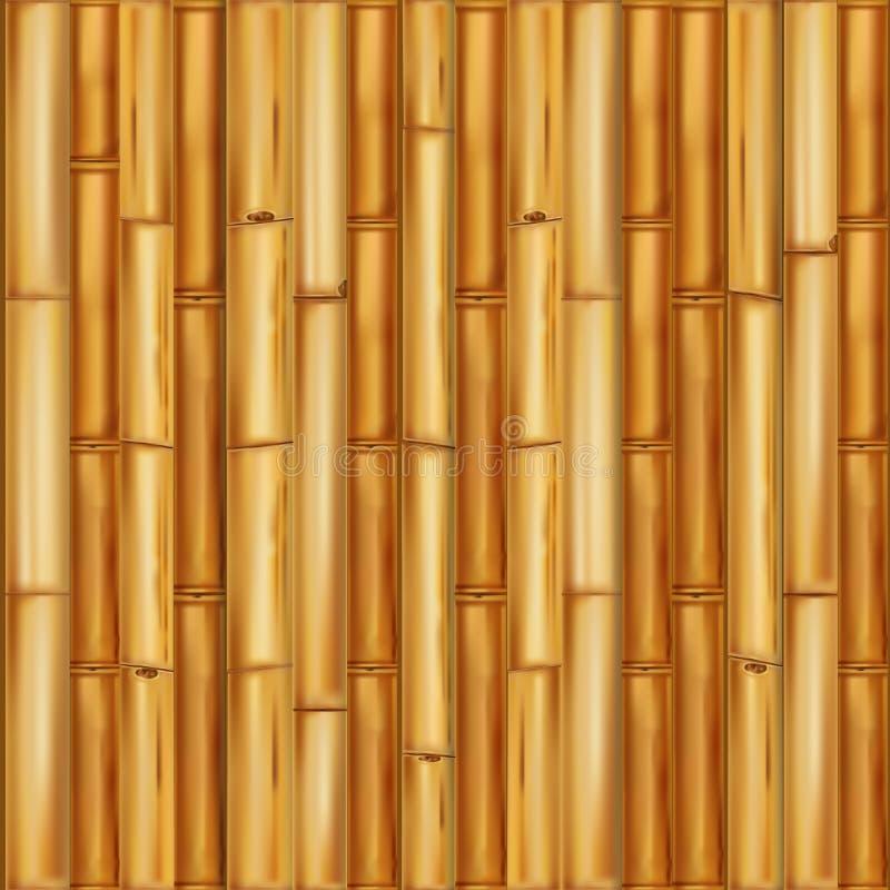 Realistisk träbambubakgrund seamless vektor för modell stock illustrationer