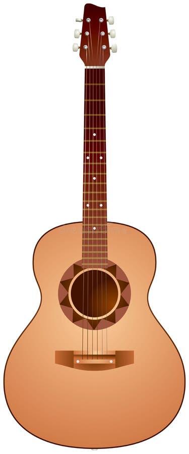 realistisk vektor för gitarrillustration vektor illustrationer