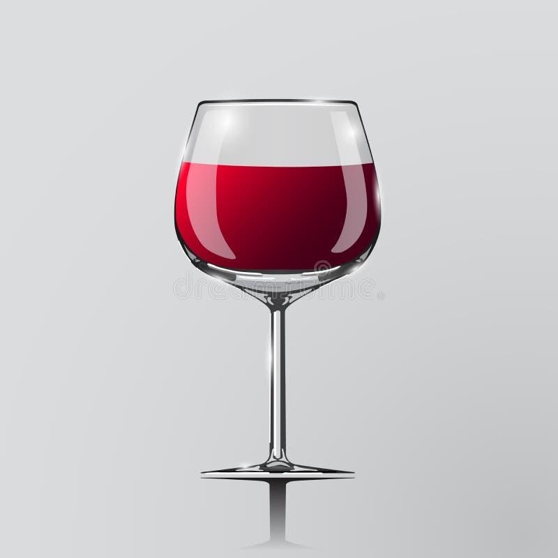 Realistisk vektorillustration av ett vinexponeringsglas stock illustrationer