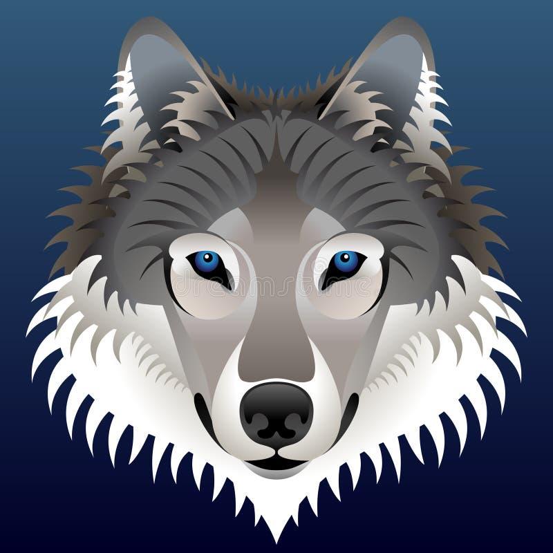 Realistisk wolfs framsida vektor illustrationer