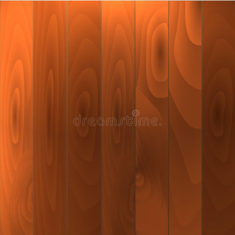 Realistisk wood golv- och för vitvägg eps10 vektorillustration vektor illustrationer