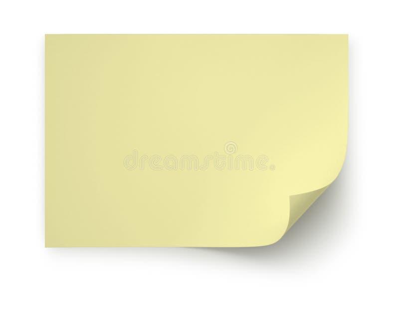 realistisk yellow för ålderkrullningsanteckningsbok arkivfoton