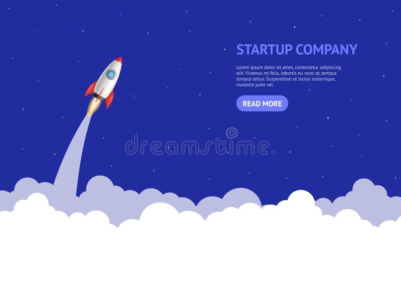 Realistiskt 3d-kort för detaljerat raketutrymme Vector stock illustrationer