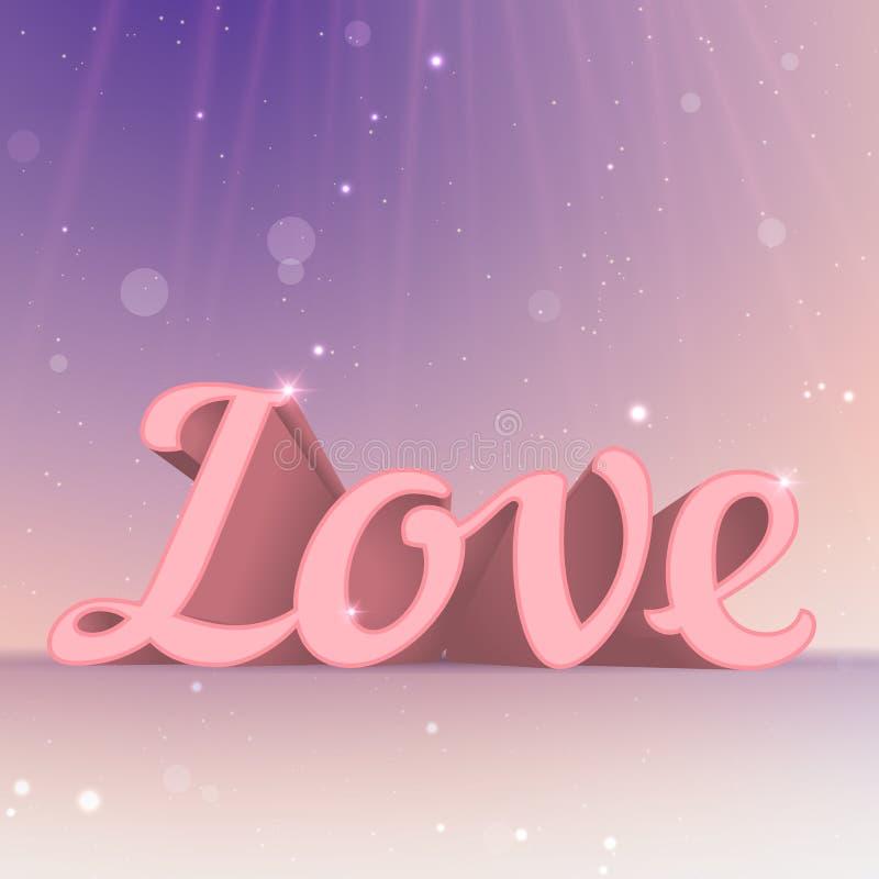 Download Realistiskt Förälskelsetecken För Rosa Färger 3d. Typografikort Vektor Illustrationer - Illustration av forever, datum: 37347520