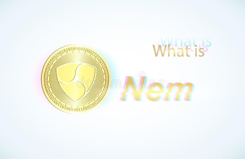Realistiskt guld- mynt nem vektor illustrationer