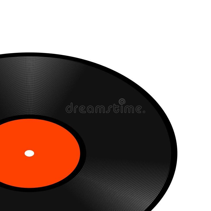 Realistiskt perspektiv - retro vinyl gramophone record vetor template vintage vinyl gramophone record disk för musik royaltyfri illustrationer
