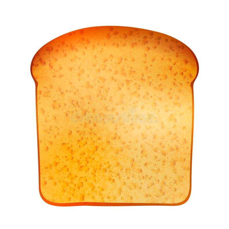 Realistiskt smakligt rostat bröd som isoleras på vit stock illustrationer