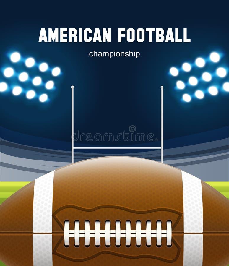 Realistiskt tema eps 10 för amerikansk fotboll stock illustrationer