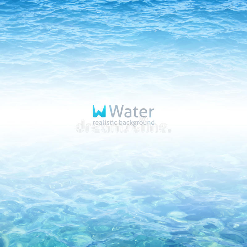 Realistiskt vatten royaltyfri illustrationer