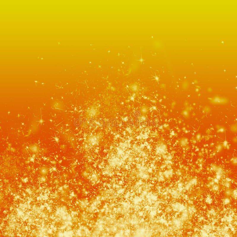 Ogień na Pomarańczowym tle ilustracja wektor